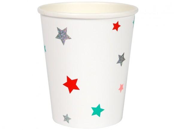 Meri Meri Party Cups FESTIVE STARS