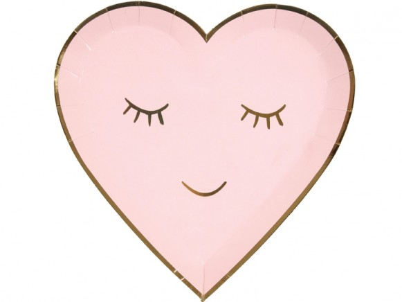 Meri Meri Small Party Plates Hearts Smiley
