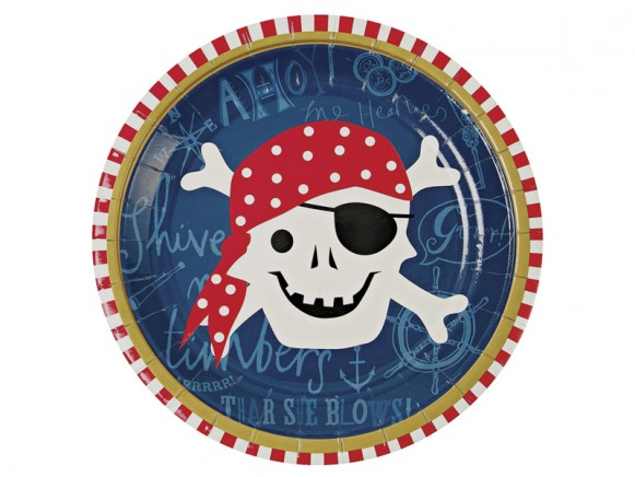 Meri Meri Ahoy Pirate Party Plates small