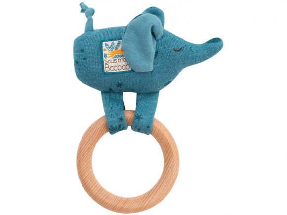 Moulin Roty Rattle Ring ELEPHANT