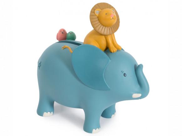 Moulin Roty Money Box BERGAMOTE THE ELEPHANT