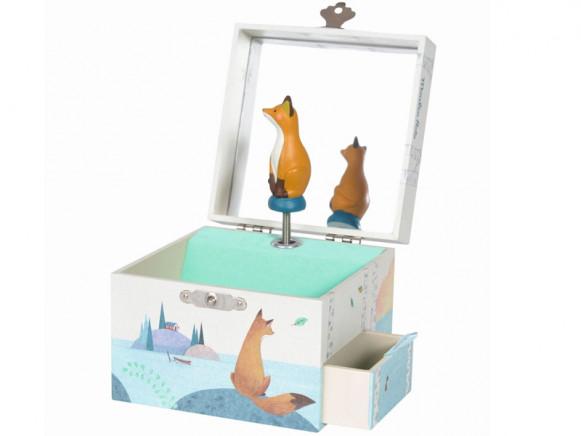 Moulin Roty Musical Jewelry Box FOX