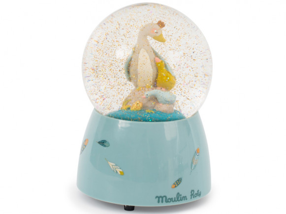 Moulin Roty Musical Snow Globe GOOSE OLGA