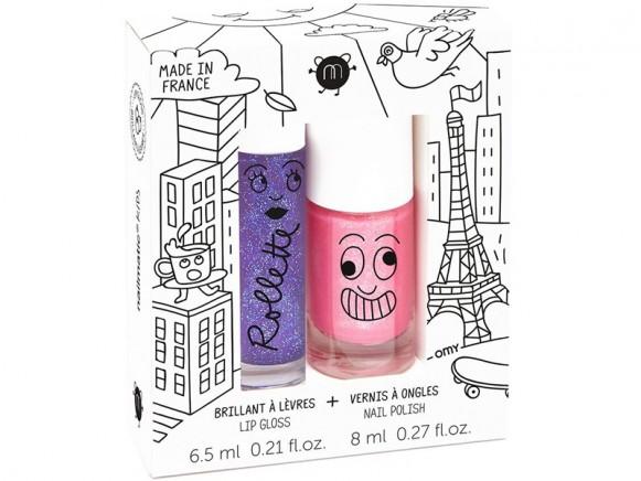 nailmatic kids Lip Gloss + Nail Polish Set LOVELY CITY