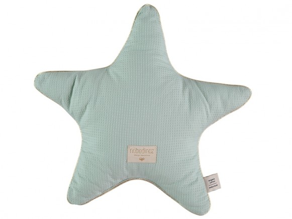 Nobodinoz Star Cushion Aristote Honeycomb AQUA