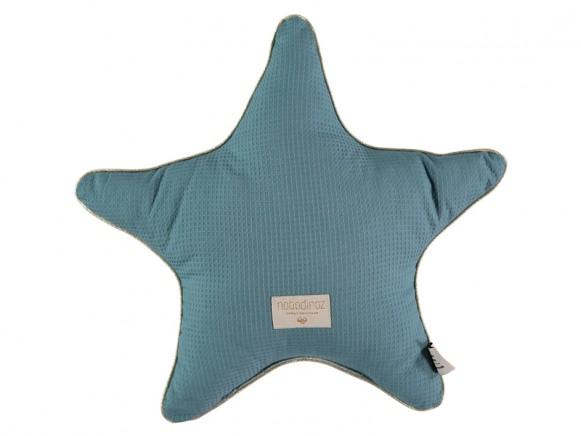 Nobodinoz Star Cushion Aristote Honeycomb MAGIC GREEN