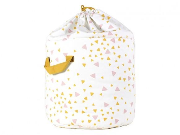 Nobodinoz Baobab Toy Bag SPARKS PINK HONEY large