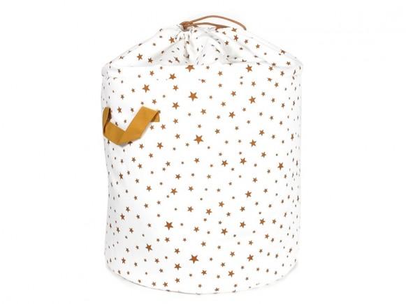Nobodinoz Baobab Toy Bag Stars MUSTARD small