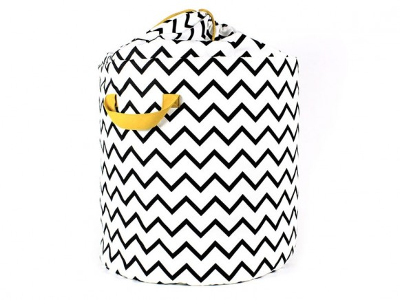 Nobodinoz Baobab Toy Bag Zig Zag BLACK small