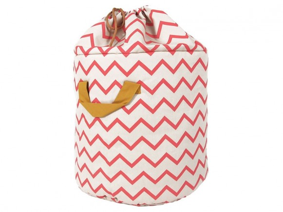 Nobodinoz Baobab Toy Bag Zig Zag PINK small