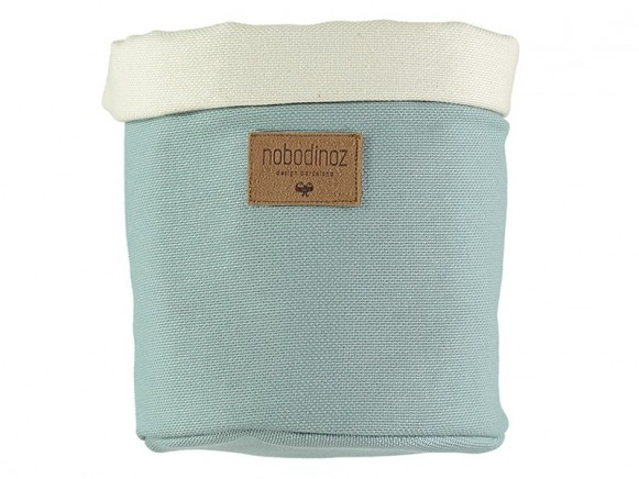 Nobodinoz Tango Storage Basket RIVIERA BLUE small