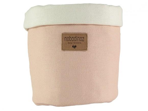 Nobodinoz Tango Storage Basket BLOOM PINK medium