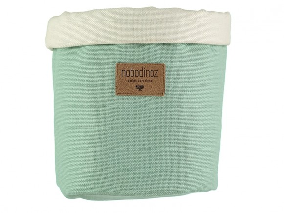 Nobodinoz Tango Storage Basket PROVENCE GREEN small
