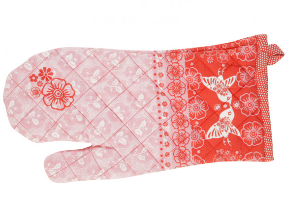 Kitchen glove Emily in pink-red by Overbeck & Friends