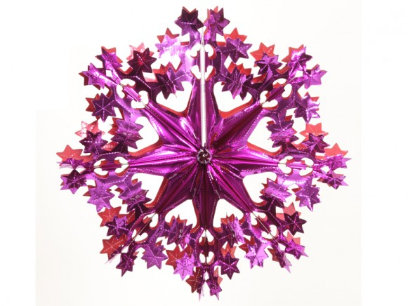 Big X-mas glitter star in fuchsia-red by Overbeck & Friends