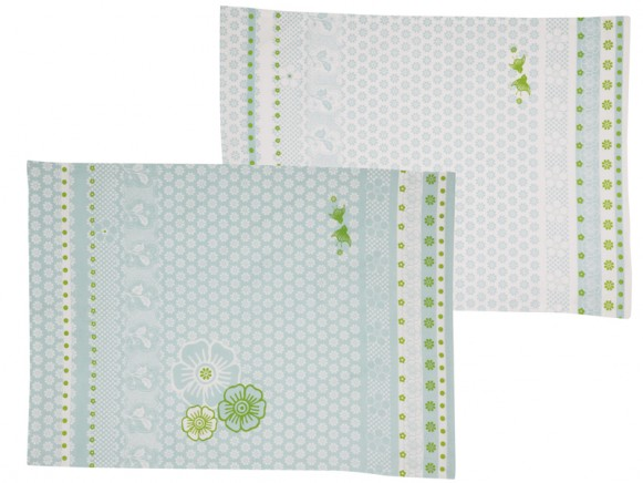Tea towel Emily blue-green by Overbeck & Friends