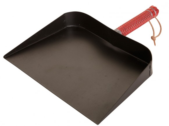 Dustpan with red handle by Overbeck & Friends