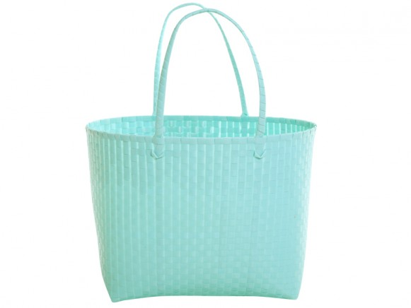 Overbeck and Friends bag pastel turquoise small