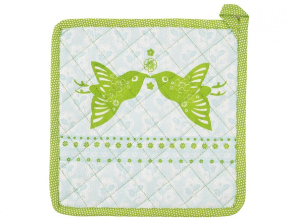 Potholder Emily in blue-green by Overbeck & Friends