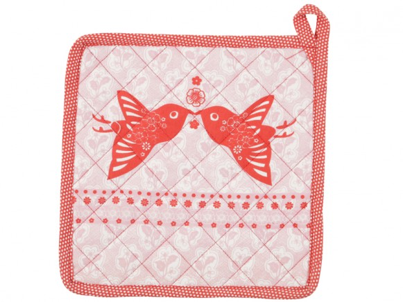 Potholder Emily in pink-red by Overbeck & Friends