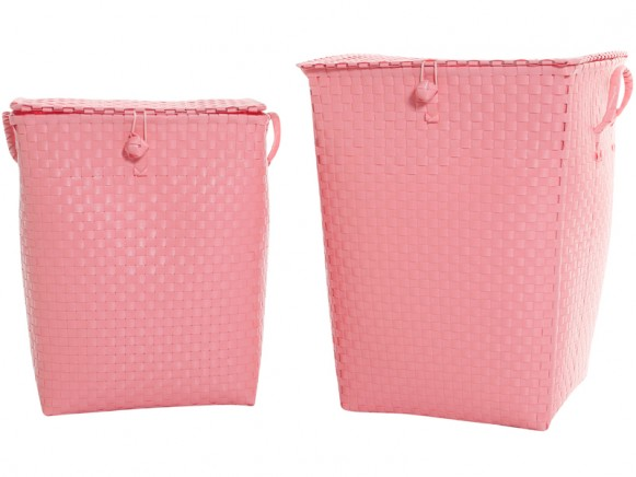 Overbeck & Friends laundry basket pastel pink