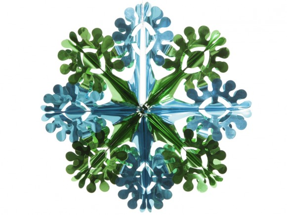 Big X-mas glitter flower in turquoise-green by Overbeck & Friends