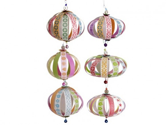Stripe balls christmas decoration