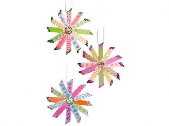 Stripe stars christmas decoration