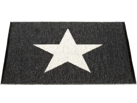 Bathroom rug Viggo One in black by Pappelina