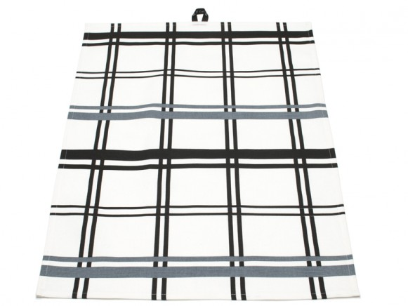 Black-white checked kitchen towel Alice by Pappelina