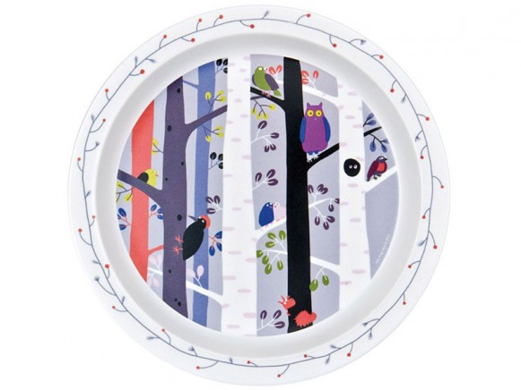 """Kids plate """"In the Forest"""" with Bird by Petit Jour"""