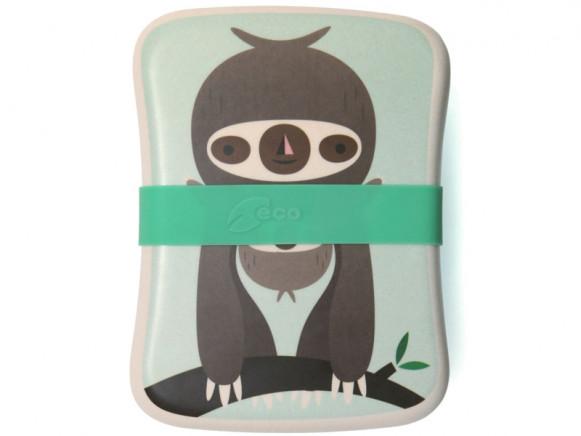 Petit Monkey Bamboo Lunch Box SLOTH green