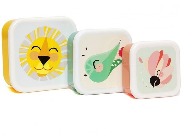 Petit Monkey Lunchbox Set LION AND FRIENDS