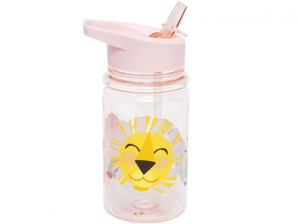 Petit Monkey Drinking Bottle LION AND FRIENDS pink