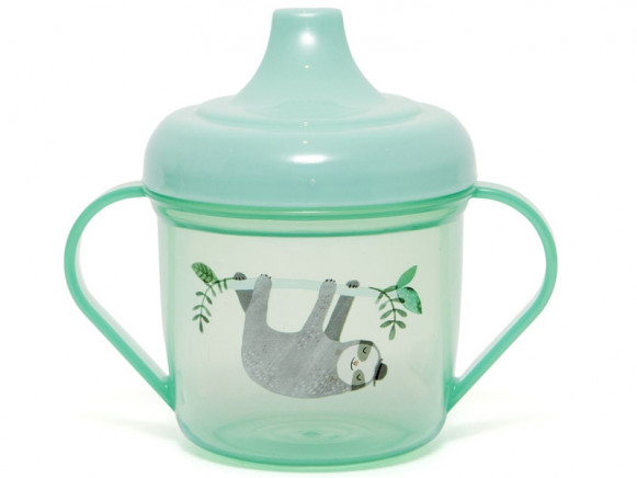 Petit Monkey Spout Cup SLOTH green