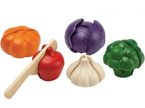Plantoys 5-piece Wooden Vegetable Set