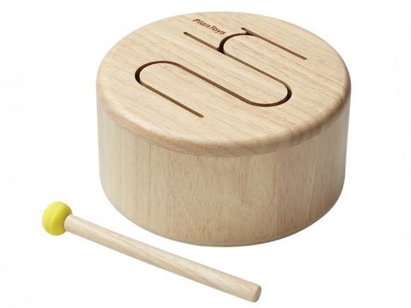 PlanToys Wooden Drum NATURAL
