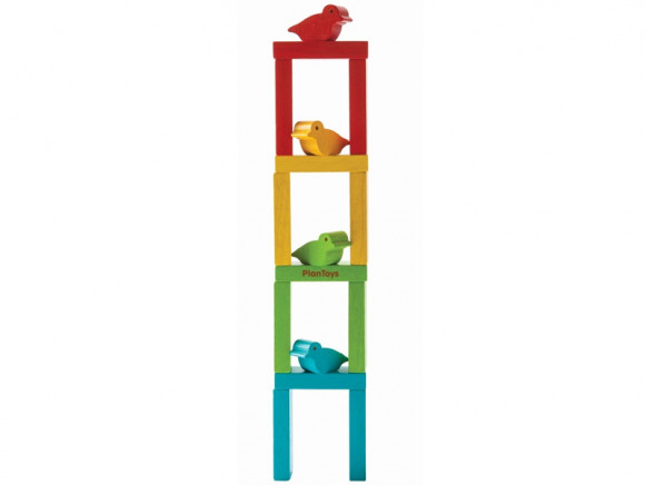 Plantoys Stacking Blocks BIRD TOWER