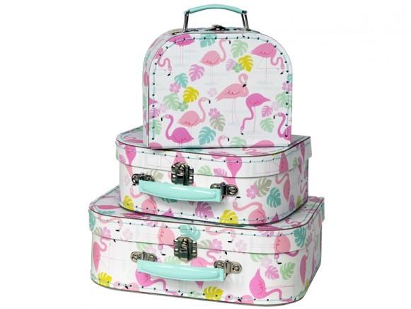 Rexinter suitcase set FLAMINGO