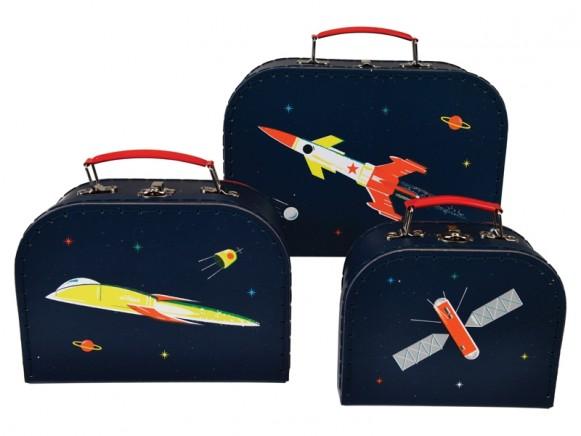 Rex London suitcase set SPACE AGE