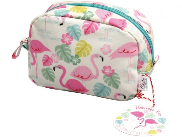 Rex London make up bag FLAMINGO