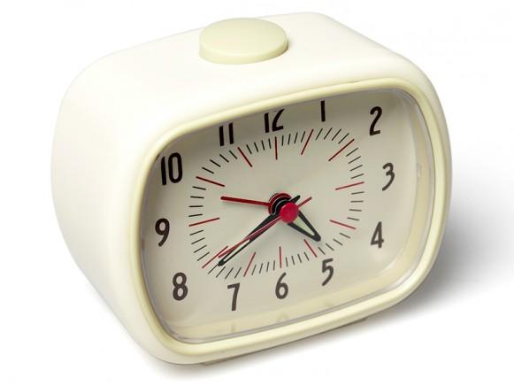 Retro clock in ivory