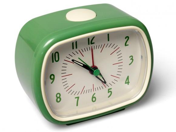 Retro clock in green
