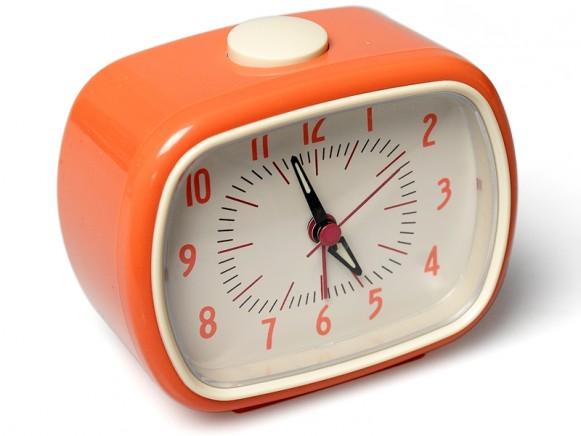 Retro clock in orange