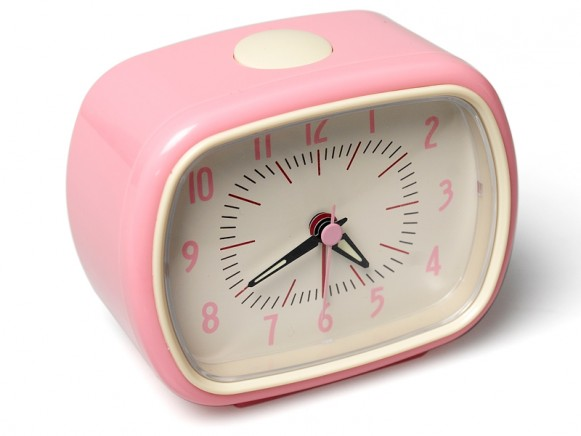 Retro clock in pink