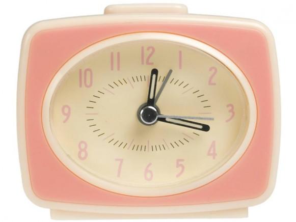 Rexinter alarm clock Vintage TV-style pink
