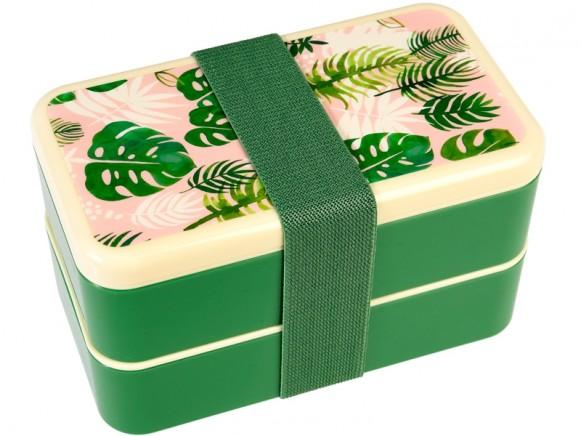 Rex London Large Bento Box TROPICAL PALM