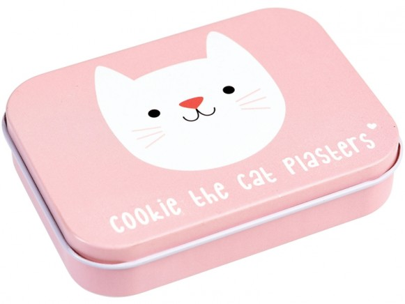 Rexinter Plasters in tin COOKIE THE CAT
