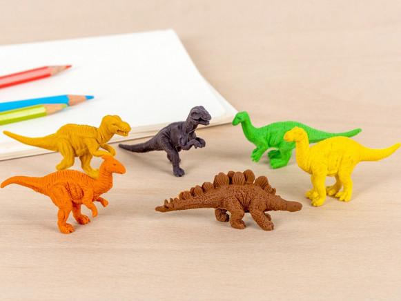 Rex London Set of 6 Rubber Erasers DINOSAURS