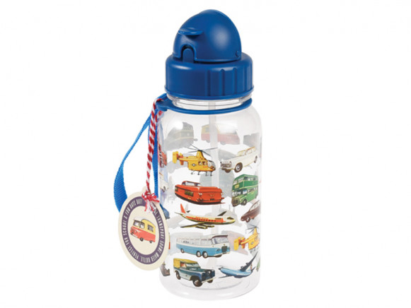 Rex London Kids Water Bottle VINTAGE TRANSPORT